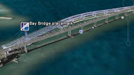 People who use Google Earth are now able to view the ongoing  construction of the Bay Bridges new self-anchored suspension span.