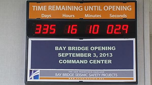 Countdown to new Bay Bridge continues