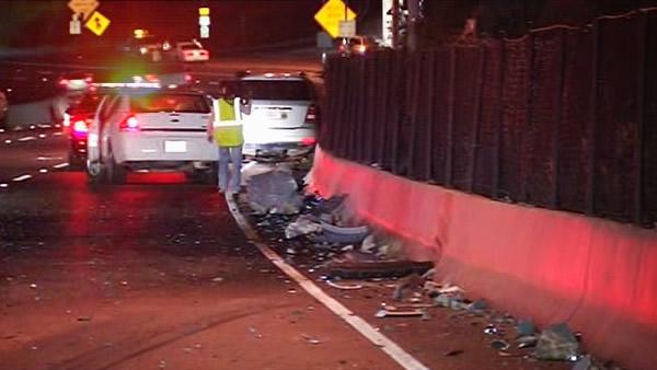 Southbound lanes of Highway 101 were temporarily blocked at Alexander Avenue due to large boulders in the roadway.