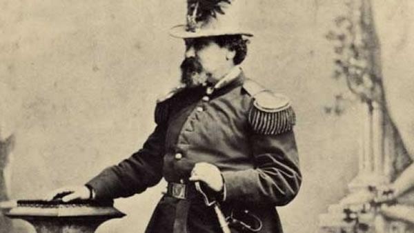 The self-proclaimed Emperor Norton was a celebrated and highly eccentric citizen of San Francisco and the first to decree, in 1872, that a suspension bridge be constructed to connect Oakland to San Francisco.  (Photo courtesy baybridgeinfo.org)