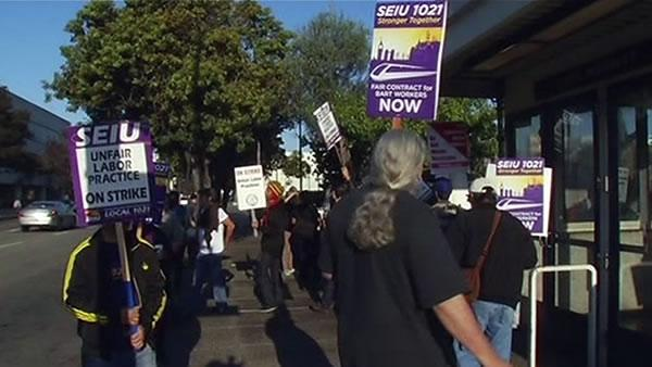 BART strike continues Monday; no talks scheduled