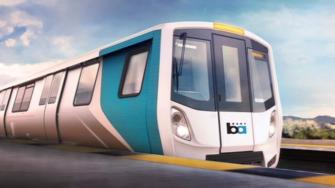 Sketch of new BART train (BART)