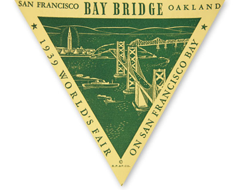 "<div class=""meta ""><span class=""caption-text "">The World's Fair Golden Gate International Exposition was originally planned as celebration of the completion of the Bay Bridge and the Golden Gate Bridge, but it wasn't held for nearly three years after completion. It was held on Treasure Island, which is an artificial island made from the dirt excavated from the Yerba Buena Island bore tunnel. (Photo courtesy baybridgeinfo.org)</span></div>"