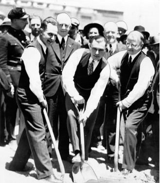 "<div class=""meta image-caption""><div class=""origin-logo origin-image ""><span></span></div><span class=""caption-text"">The groundbreaking ceremony took place on July 9, 1933 when construction began on the longest bridge in the world at that time. It took three years and five months to complete the Bay Bridge. The final bridge cost was approximately $77 million, $6 million under the estimated cost. (Photo courtesy baybridgeinfo.org)</span></div>"