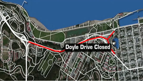 One of the big approaches to the Golden Gate Bridge, Doyle Drive, is undergoing some major changes and needed to close April 27-30. The closure is the first major step in the seismic safety rebuild of Doyle Drive.