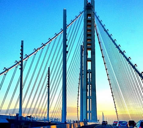 Taking the new $6,200,000,000 route to school. emoji #baybridge (Photo courtesy of _jacquelinecouture/Instagram)