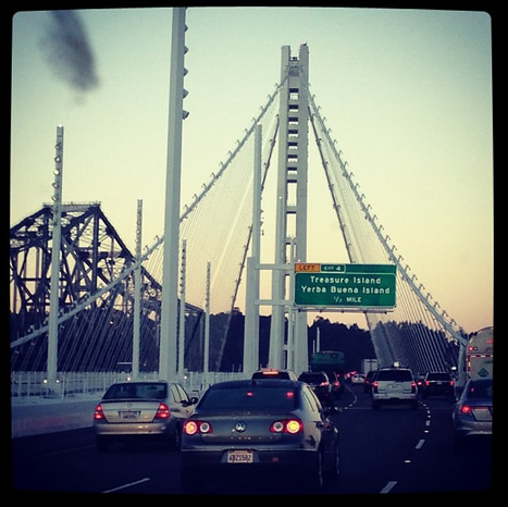 #newbridge #baybridge #newday #dailyroute #niceviews #oaklandbridge (Photo courtesy of _raskahuele/Instagram)