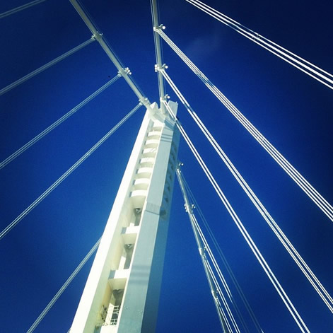 New #baybridge day 1 (Photo courtesy of _justinlomax/Instagram)