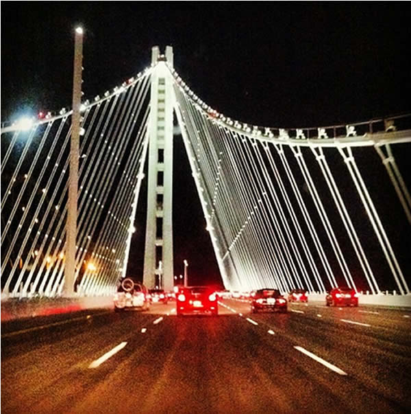New Bay Suspension #Bridge with #Earthquake #Safety! (Photo courtesy of _garypalmerjr/Instagram )