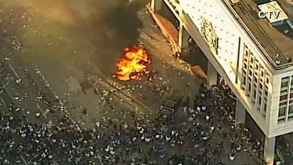 Vancouver Canucks fans riot after Stanley Cup loss