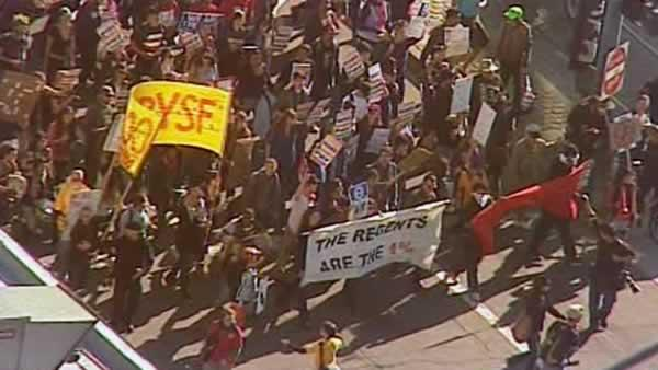 Occupy protesters march in San Francisco