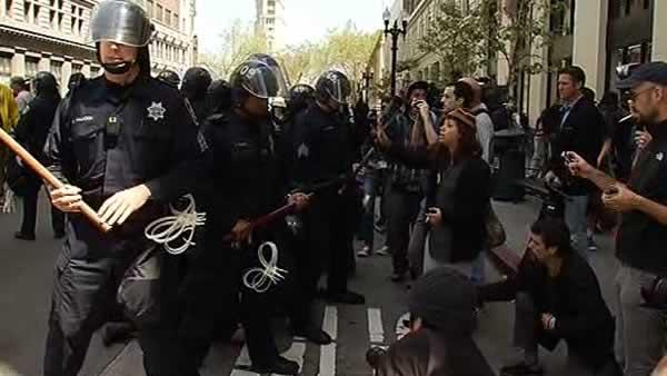 May Day protests in downtown Oakland