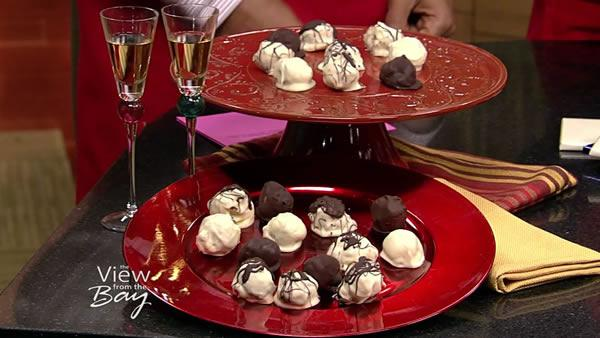 Holiday chocolate pumpkin truffles