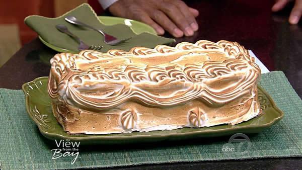 how to make baked alaska flambe