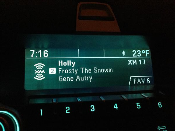"<div class=""meta ""><span class=""caption-text "">Janice in Morgan Hill found herself listening to Frosty the Snowman on a chilly morning. (photo submitted by Janice D. via uReport)</span></div>"