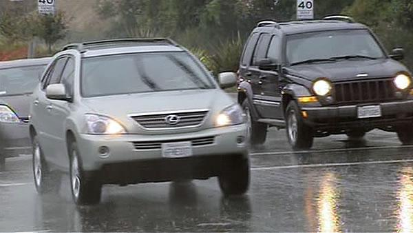 First big rains sweep through Bay Area