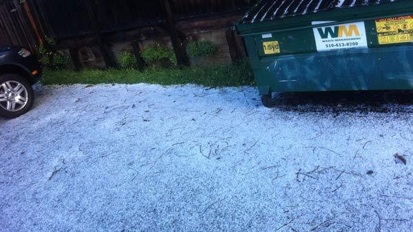 Hail spotted in Oakland