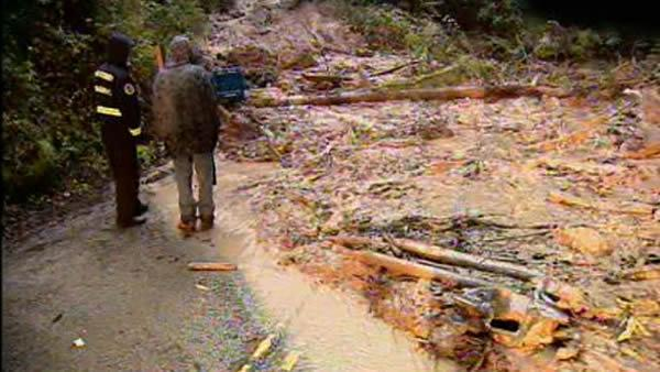 Mudslide trapped woman inside own home
