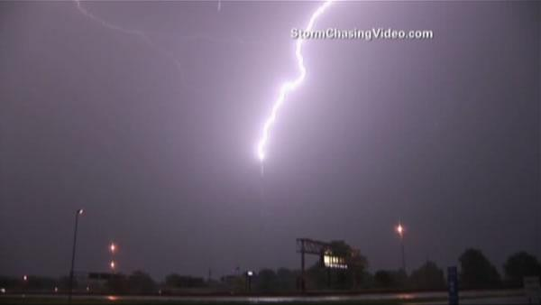 Caught on tape: Tornado, lightning