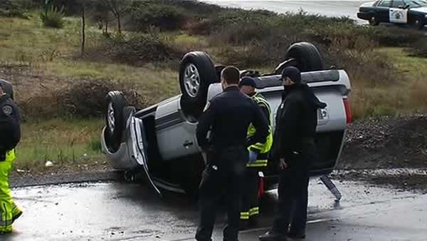 Showers move into region; accidents plague drivers