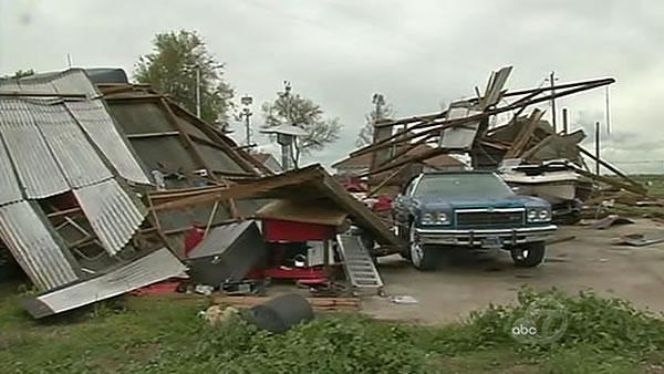 Tornado damages home near Stockton