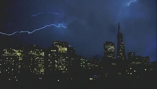 Lightning over San Francisco