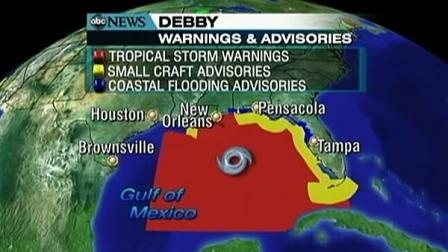 Tropical Storm Debby soaks Florida, Gulf