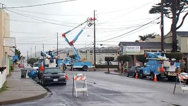 PG&E working to restore power in Pacifica