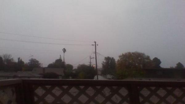 Rain and wind in San Jose