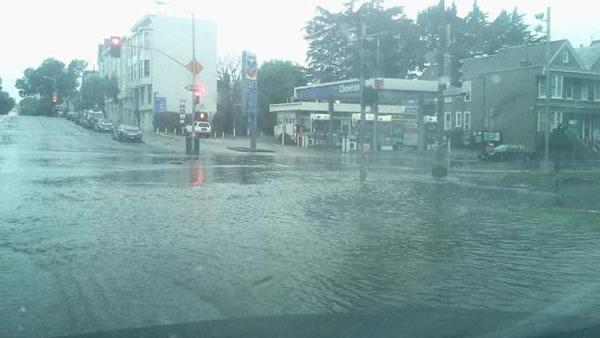 Flooding on Masonic in San Francisco