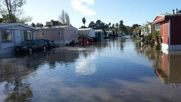 Flooding at Vallejo's Mobile Estate
