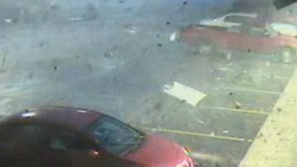 Surveillance video captures tornado in Alabama
