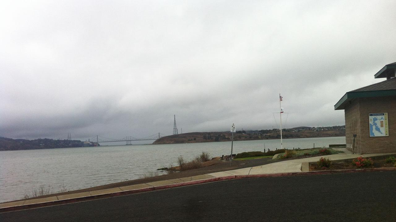 Stormy weather in Benicia, California, November 20, 2013. (Submitted anonymously via uReport@kgo-tv.com)