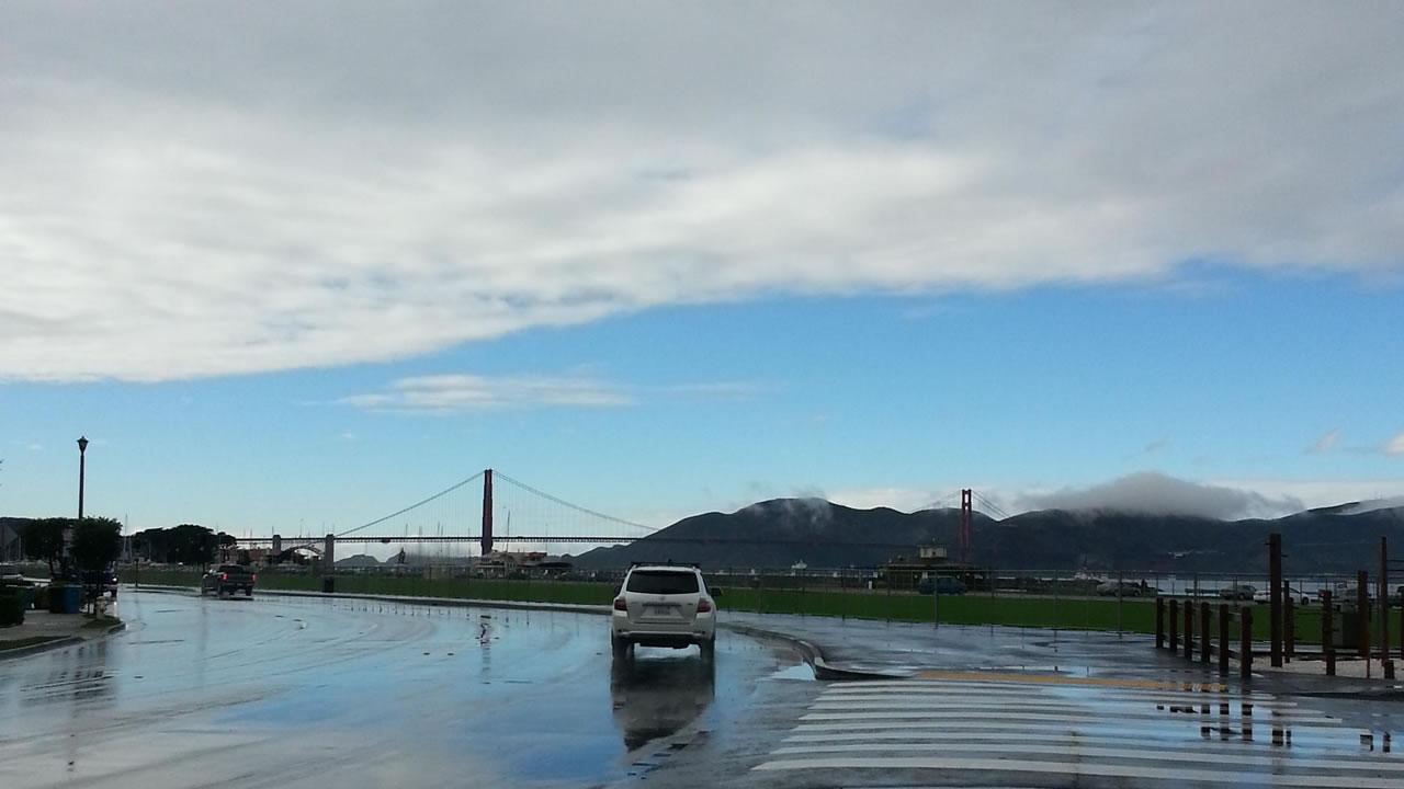 Rainy weather clearing up on Marina Green in San Francisco, November 20, 2013. (Submitted by Jonathan Ng via uReport@kgo-tv.com)