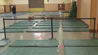 Empty beds at a Santa Clara County homeless shelter