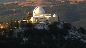 Snow on the Lick Observatory