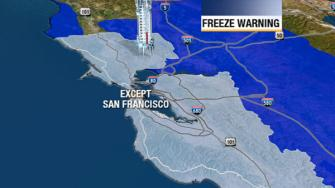Freeze warning in the Bay Area