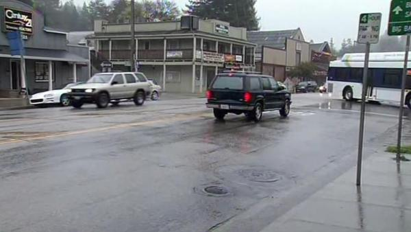 Heavy downpours thrill residents in Santa Cruz Mtns.