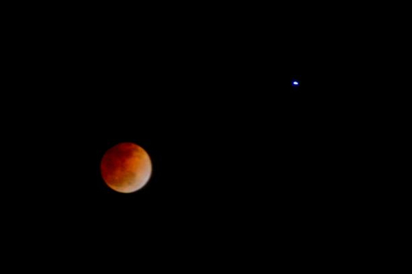 Blood moon lunar eclipse taken in Campbell. Submitted via uReport