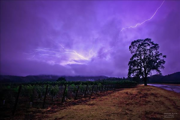 Lightning passes over Napa Sunday evening, June 9th, 2013.   <span class=meta>(Photo submitted by @mike_cuffe via uReport)</span>
