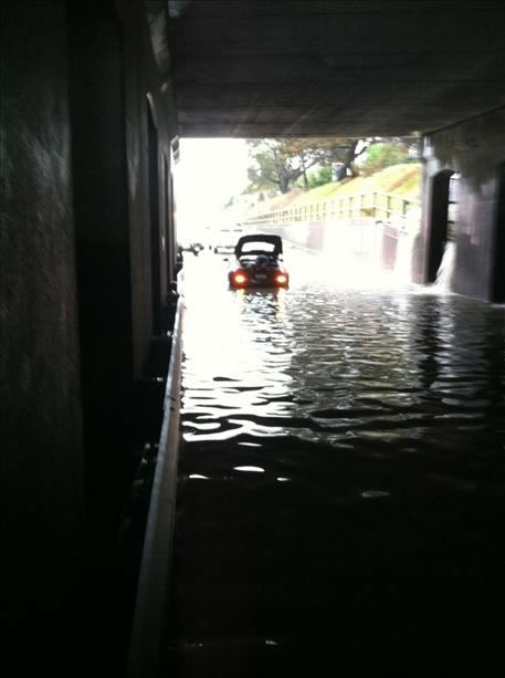 Flooding in Berkeley's Ashby Tunnel (Photo submitted via uReport)