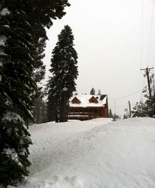 Snow seen at Serene Lakes near Donner Summit on Wednesday, March 14, 2012. <span class=meta>(KGO)</span>