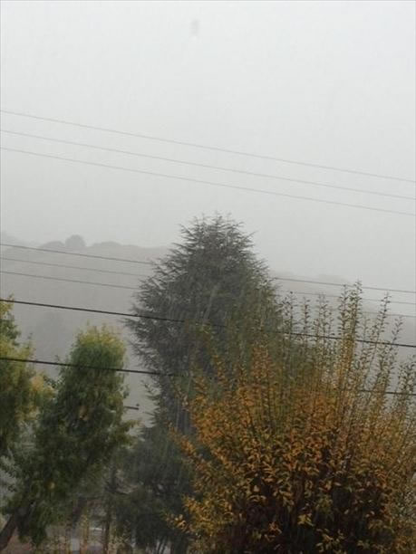 Heavy rain in Fremont (Photo submitted by Alex Reyes via uReport)