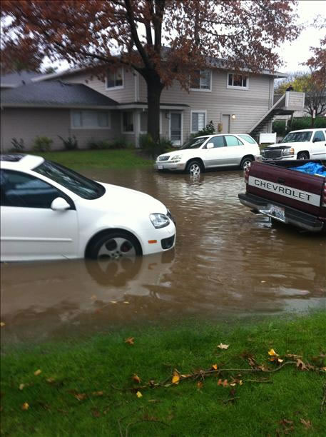 Flooding in Novato (Photo submitted via uReport)