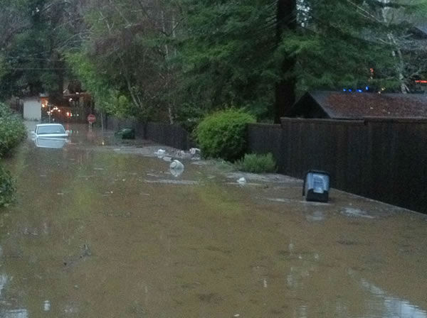 Flooding in Felton (Photo courtesy of Alekz Londos)