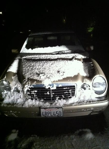 Hail in Orinda. (Photo submitted via uReport)