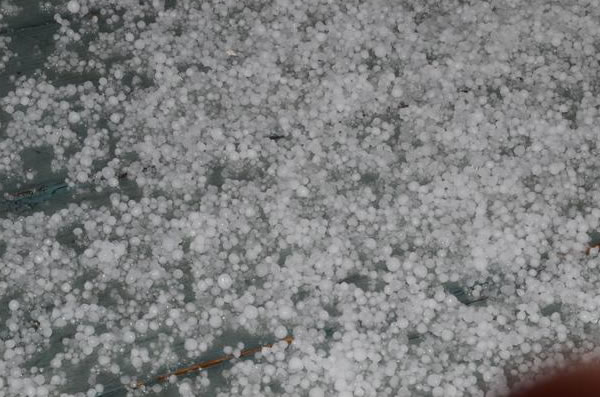 "<div class=""meta ""><span class=""caption-text "">Lots of hail, so I decided to gather all of it and put it on a basin. From El Sobrante(Photo submitted by Christopher Calubaquib via uReport)</span></div>"