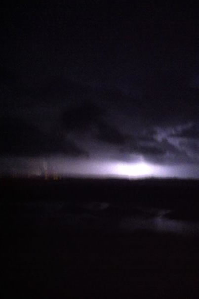 Here are some pictures of lightning I captured. I was traveling on east on HWY 37 and you can see lighting near the Richmond Bridge.(Photo submitted by Whitney Branco via uReport)