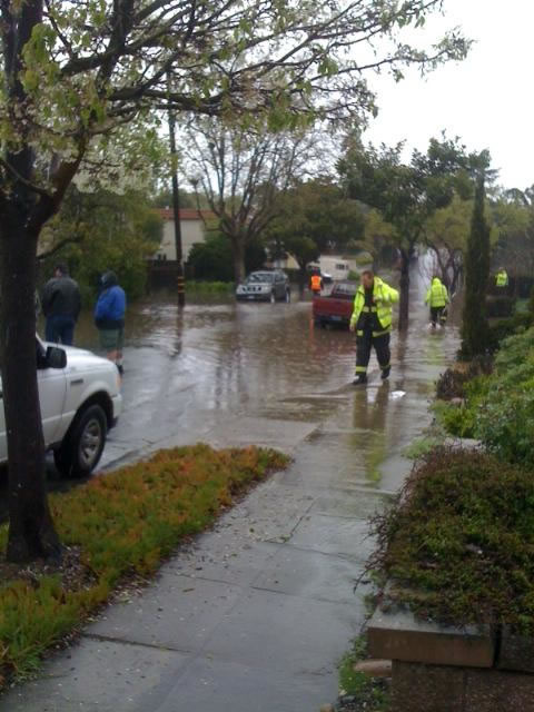 Flooding at Laguna Avenue in Burlingame, March 24, 2011 (Photo submitted via uReport)
