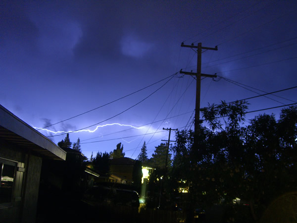 Lightning in Napa, California at around 2:00 a.m., Monday, June 10th. <span class=meta>(Photo submitted via uReport)</span>